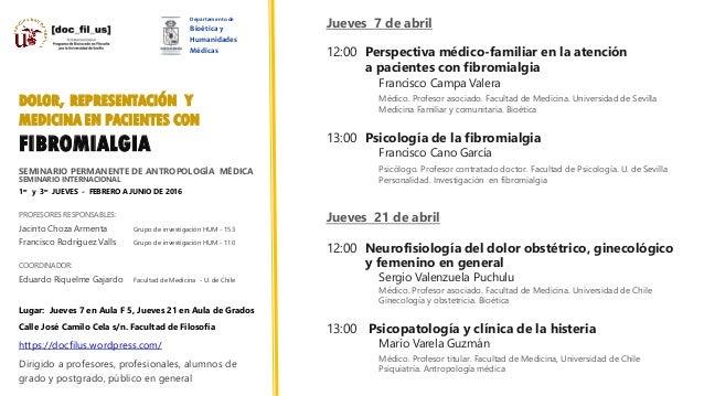 SEMINARIO PERMANENTE DE ANTROPOLOGÍA MÉDICA SEMINARIO INTERNACIONAL 1er y 3er JUEVES - FEBRERO A JUNIO DE 2016 PROFESORES ...