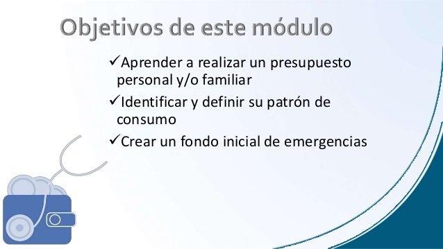 seminario finanzas personales modulo 1  u0026quot el presupuesto u0026quot