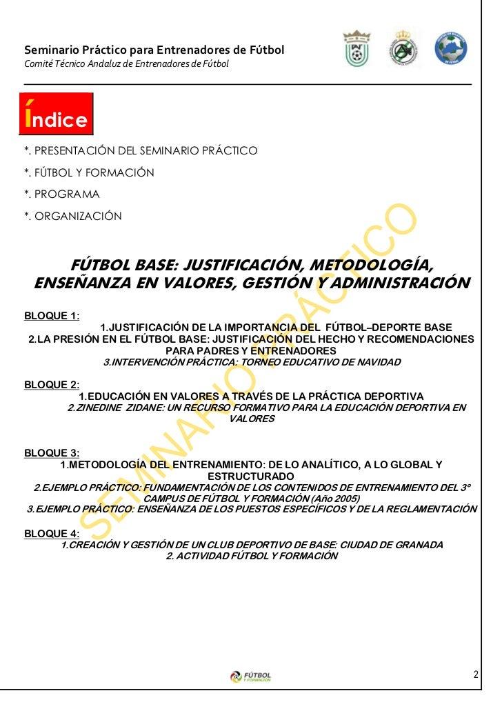 SEMINARIO FUTBOL BASE Slide 2