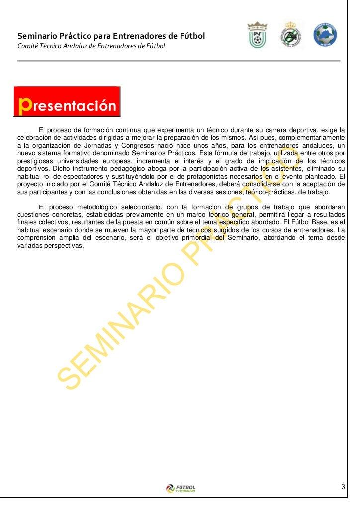 SEMINARIO FUTBOL BASE Slide 3