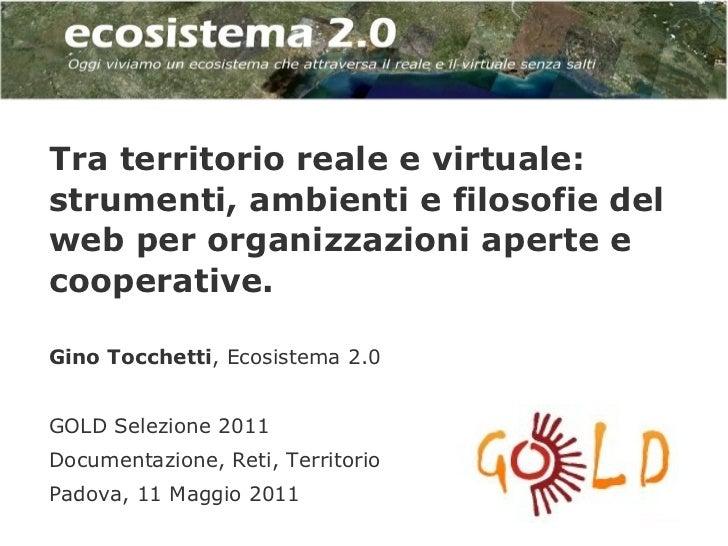 Tra territorio reale e virtuale:strumenti, ambienti e filosofie delweb per organizzazioni aperte ecooperative.Gino Tocchet...