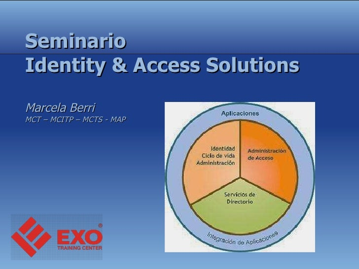 Seminario Identity & Access Solutions Marcela Berri  MCT – MCITP – MCTS - MAP