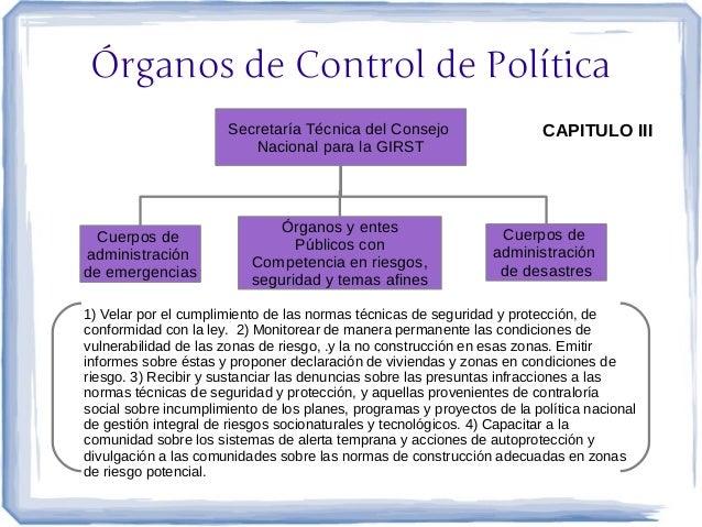 Órganos de Control de Política                      Secretaría Técnica del Consejo                     CAPITULO III       ...