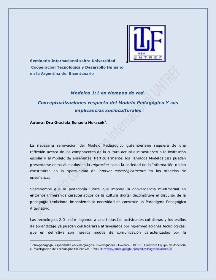 Seminario Internacional sobre Universidad         , <br /> Cooperación Tecnológica y Desarrollo Humano <br />en la Argenti...