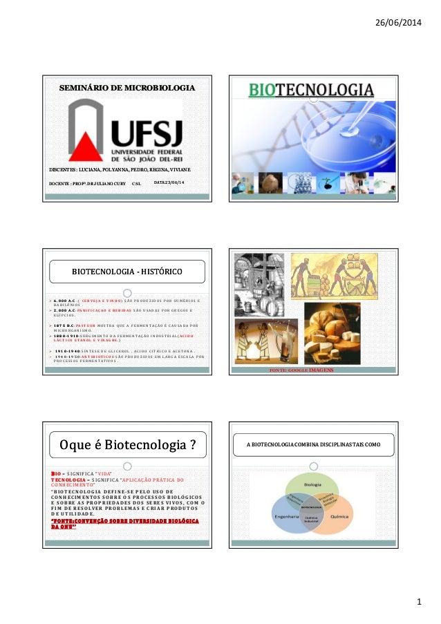 26/06/2014 1 SEMINÁRIO DE MICROBIOLOGIASEMINÁRIO DE MICROBIOLOGIA DISCENTES : LUCIANA, POLYANNA, PEDRO, REGINA, VIVIANEDIS...