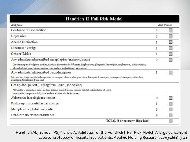 hendrich ii fall risk model pdf
