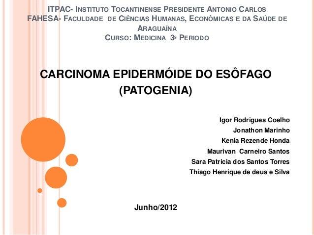 ITPAC- INSTITUTO TOCANTINENSE PRESIDENTE ANTONIO CARLOSFAHESA- FACULDADE DE CIÊNCIAS HUMANAS, ECONÔMICAS E DA SAÚDE DE    ...