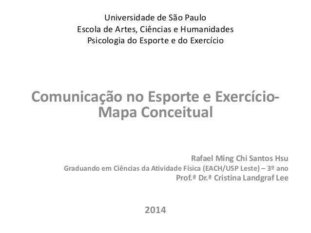 Universidade de São Paulo  Escola de Artes, Ciências e Humanidades  Psicologia do Esporte e do Exercício  Comunicação no E...