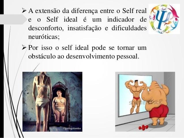  A extensão da diferença entre o Self real e o Self ideal é um indicador de desconforto, insatisfação e dificuldades neur...