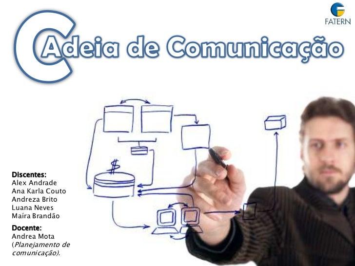 C<br />Adeiade Comunicação<br />Discentes: <br />Alex Andrade<br />Ana Karla Couto<br />Andreza Brito<br />Luana Neves<br ...