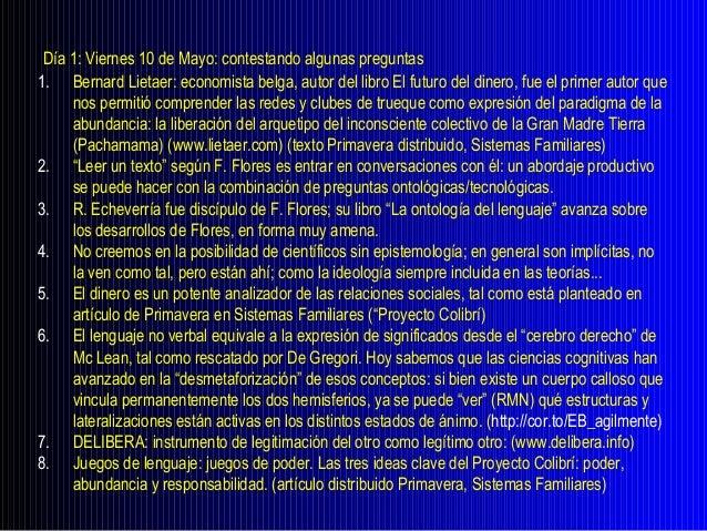 Seminario Interdisciplinario:I. Exposición - 20'II. Preguntas - 20'III. Comentarios - 15'IV. Conclusiones personales - 5'V...
