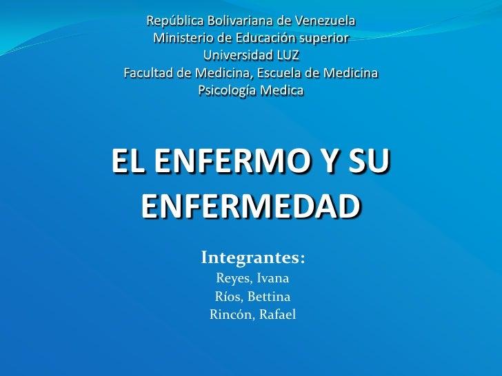 República Bolivariana de VenezuelaMinisterio de Educación superiorUniversidad LUZFacultad de Medicina, Escuela de Medicina...