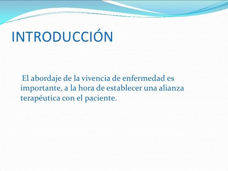 EL ENFERMO Y SU ENFERMEDAD Slide 2