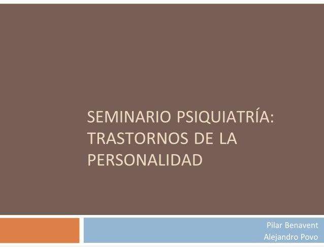 Definición Personalidad:  Actitudes y características que perduran en el individuo.  Personalidad «normal»: Concepto est...