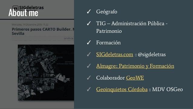 Publicación de datos geográficos en Internet Slide 2