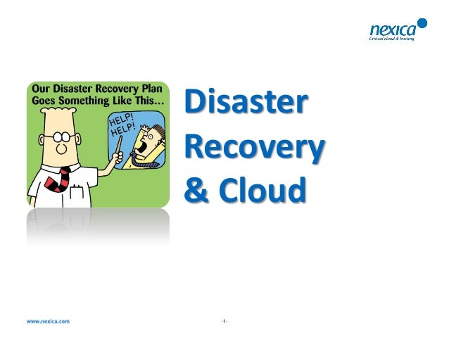 DisasterRecovery& Cloud  -1-