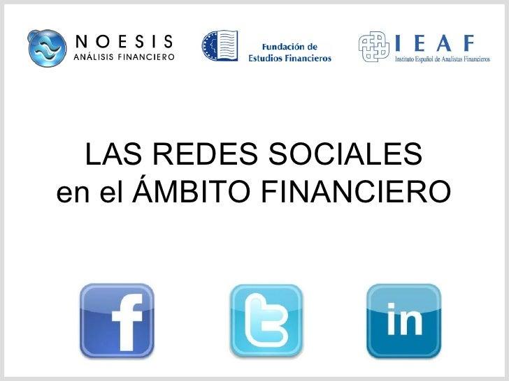 LAS REDES SOCIALES en el ÁMBITO FINANCIERO