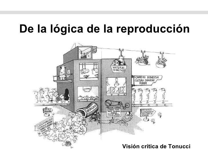 De la lógica de la reproducción Visión crítica de Tonucci