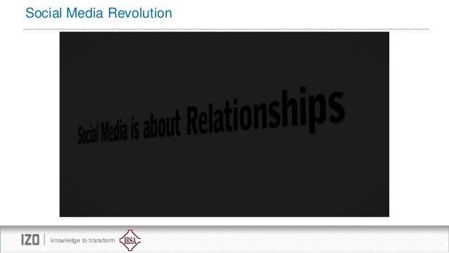 Social Media Revolution  knowledge to transform
