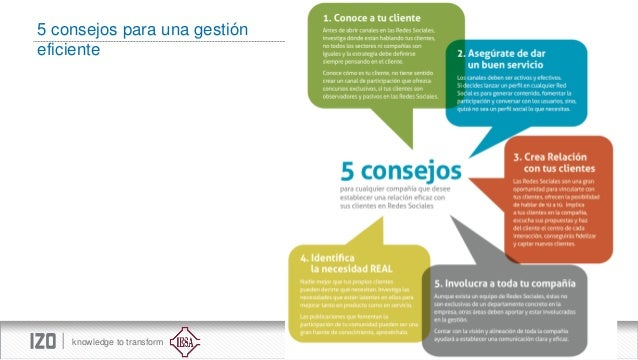 5 consejos para una gestión eficiente  knowledge to transform
