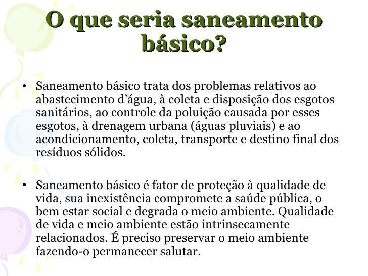 Excepcional Seminario saneamento básico Lei 11.445/2007 EI41