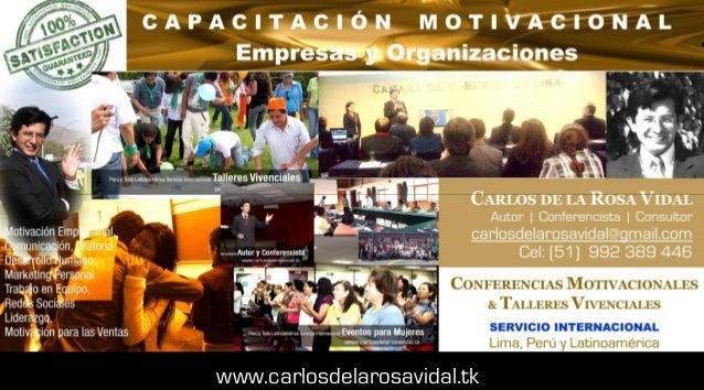 Conferencias De Motivación Capacitación Empresarial Perú