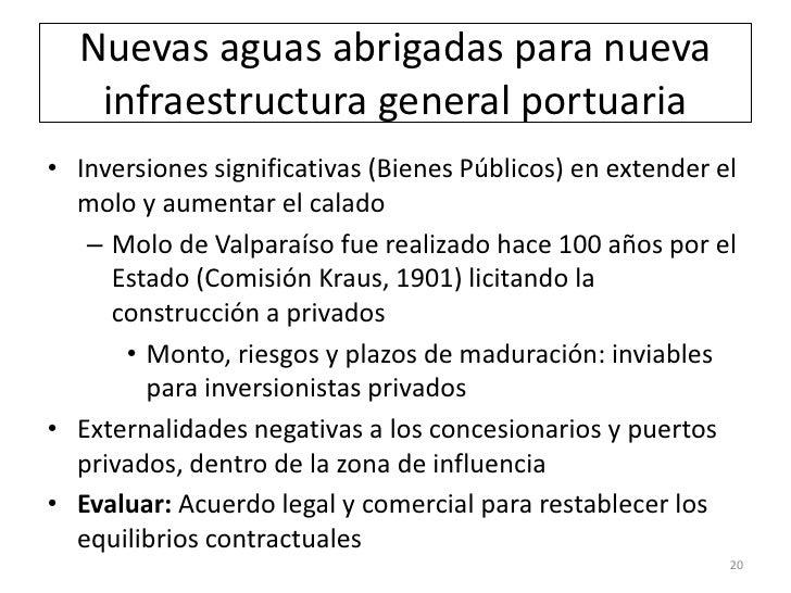 Nuevas aguas abrigadas para nueva   infraestructura general portuaria• Inversiones significativas (Bienes Públicos) en ext...
