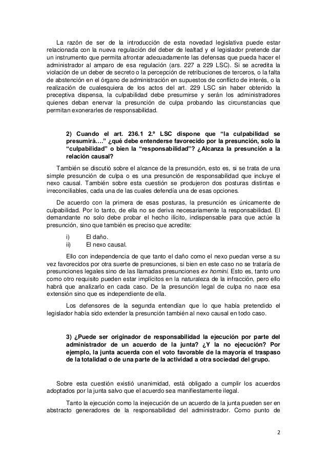 Seminario sobre criterios interpretativos de la reforma de la ley de sociedades de capital por la ley 31 2014 Slide 2