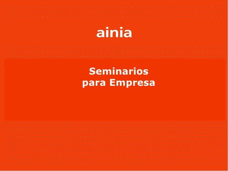 Seminarios para Empresa
