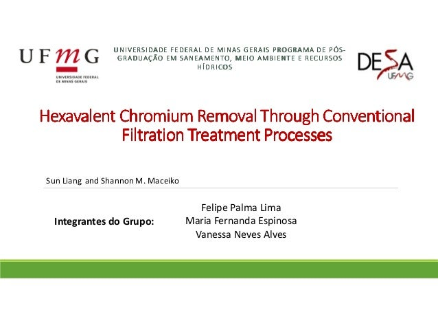HexavalentHexavalentHexavalentHexavalent Chromium Removal Through ConventionalChromium Removal Through ConventionalChromiu...