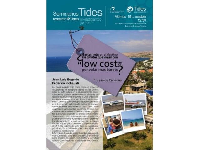 The relationship between tourismexpenditure in origin and destination:         The Case of LCCs         Juan Luis Eugenio ...