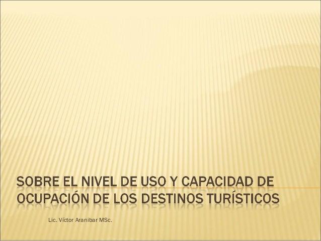 Lic. Víctor Aranibar MSc.