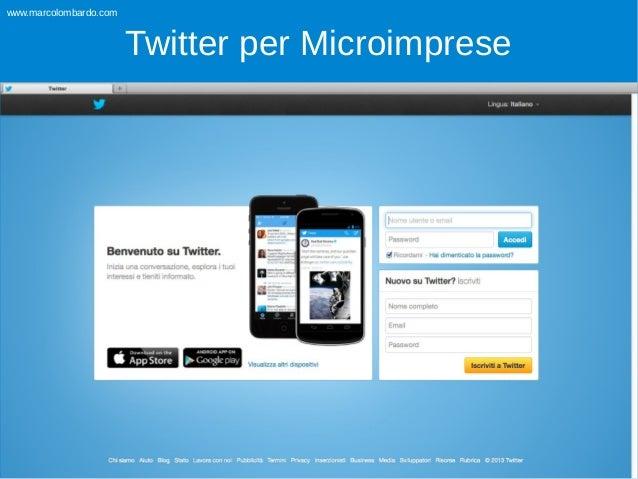 www.marcolombardo.com  Twitter per Microimprese