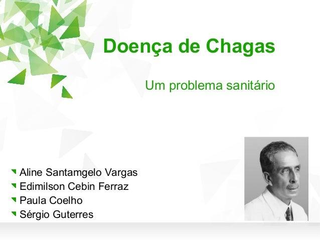 Doença de Chagas Um problema sanitário  Aline Santamgelo Vargas Edimilson Cebin Ferraz Paula Coelho Sérgio Guterres