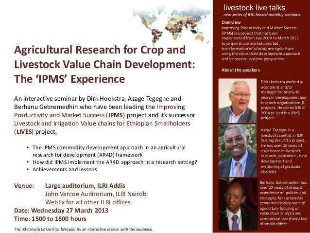 livestock live talks                                                                                    new series of ILRI...