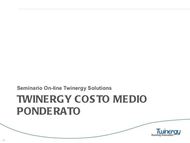 Twinergy Solution Costo Medio Ponderato Con SAP