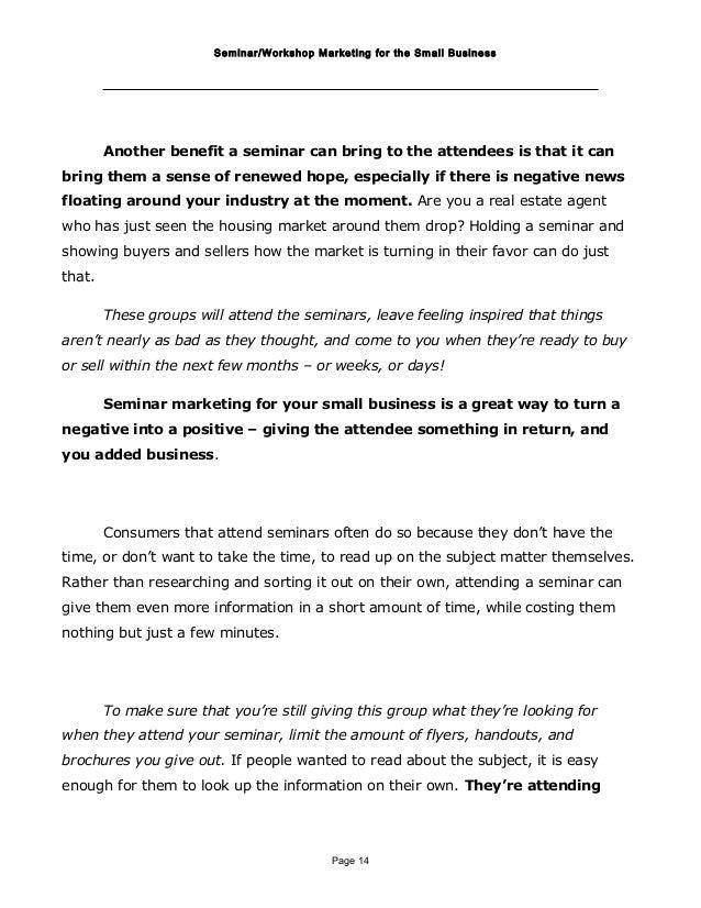 Seminar Marketing Report