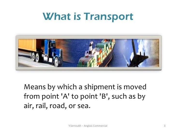 Que significa en ingles means of transportation