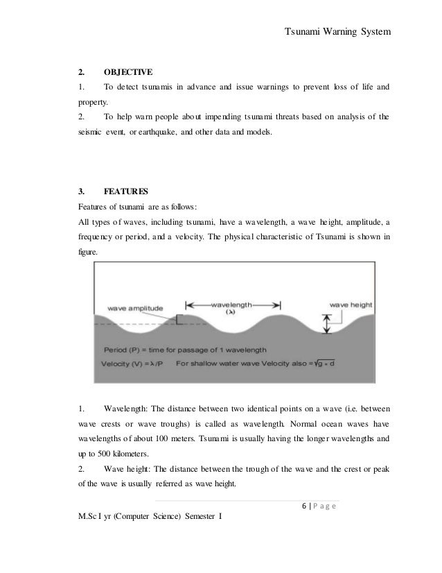 what are typical values for a tsunamis wavelength and amplitude