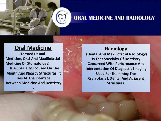 Dissertation in oral medicine and radiology