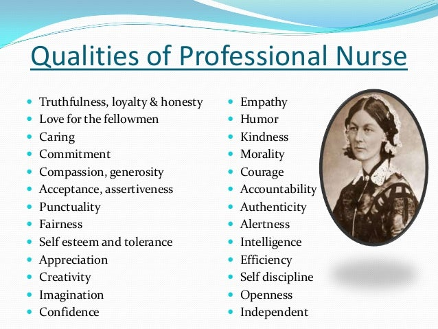 accountability in the nursing profession Florence nightingale envisioned nursing as an  accountability and integrity, and the documents that speak of these values and concepts in professional.