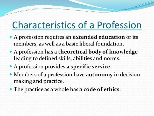characteristics of nursing profession ppt perspectives of nursing