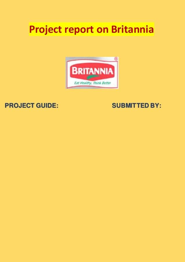 Project report on britannia
