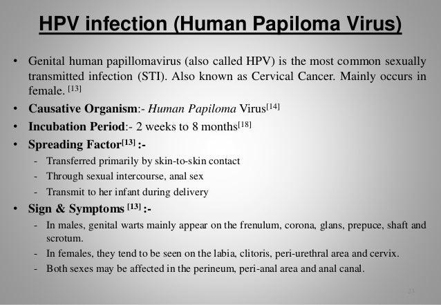 The most common sexually transmitted disease