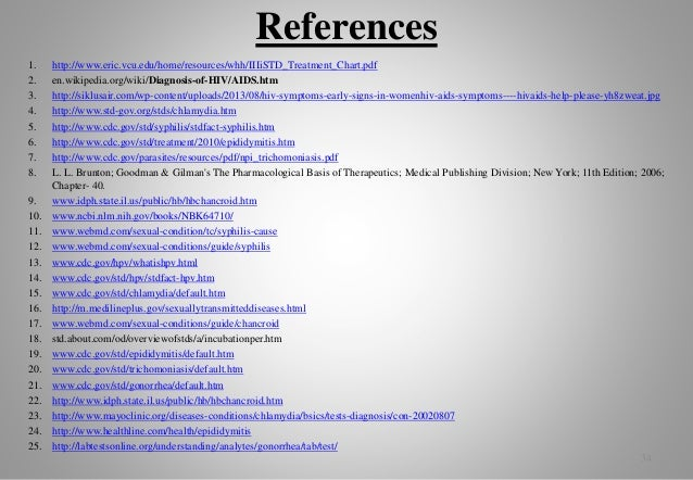 Sexually transmitted diseases references template