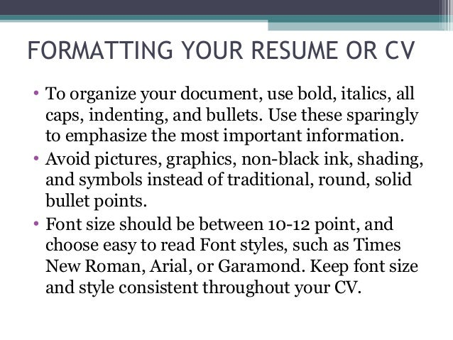 best font style for resumes