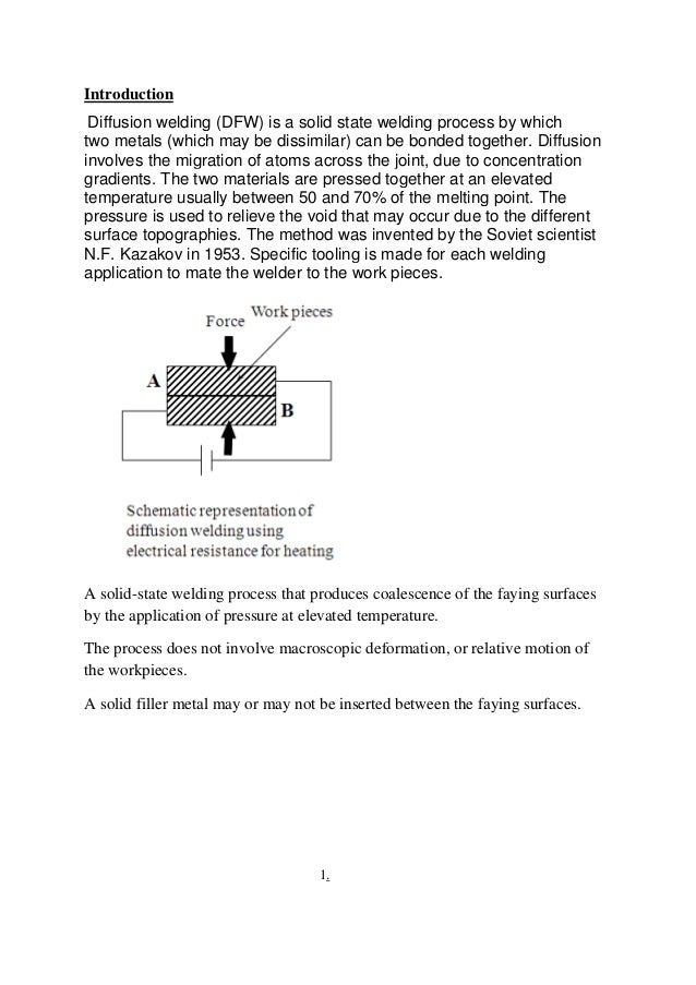 seminar on diffusion welding rh slideshare net