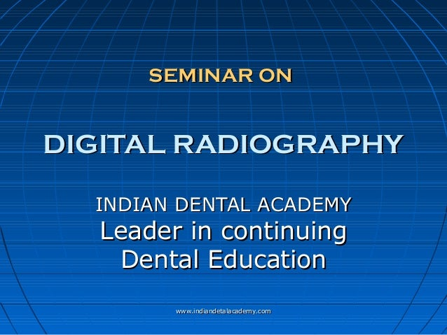 how to use dental digital radiography