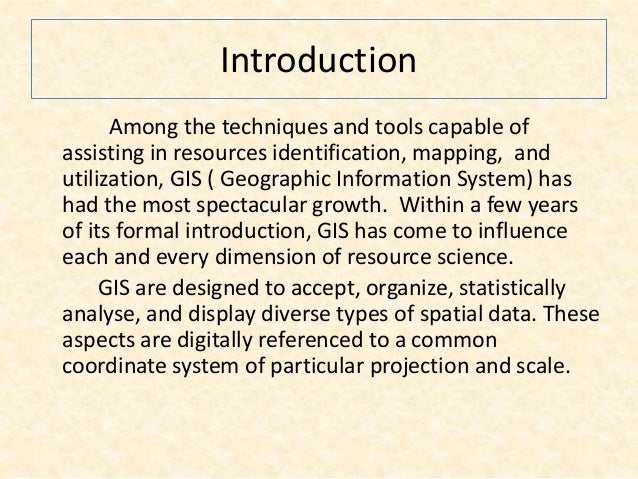 Seminar on gis analysis functions