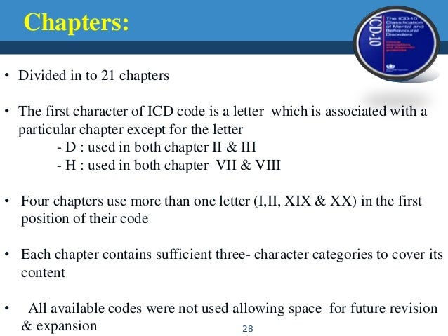 What Letter Is Not Used In Icd